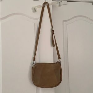 Urban Outfitters Tan suede crossbody purse